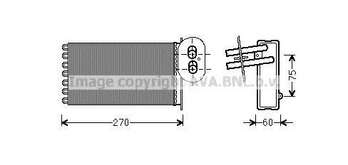 VW6296 Радиатор отопителя VW T4 1.8-2.8/1.9D-2.5D 98-04