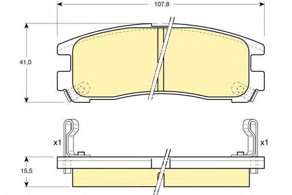 6110239 Колодки тормозные MITSUBISHI GALANT 92-04/PAJERO PININ 99-/SPACE WAGON 91-99 зад