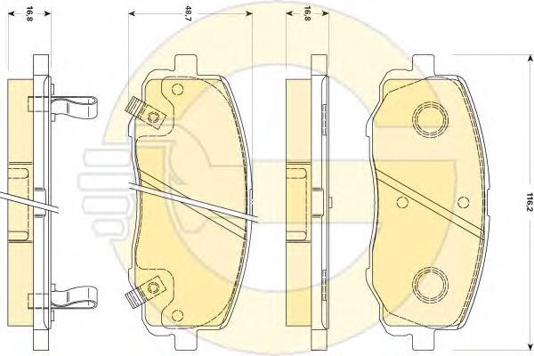 6135109 Колодки тормозные HYUNDAI i20 1.2 08- передние