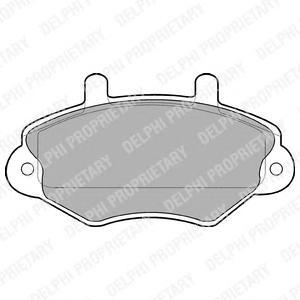 LP767 Комплект тормозных колодок