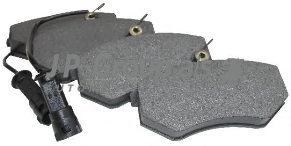 1163602310 Колодки тормозные дисковые передние / AUDI 80,90,100,200 (с датчиками) 80~