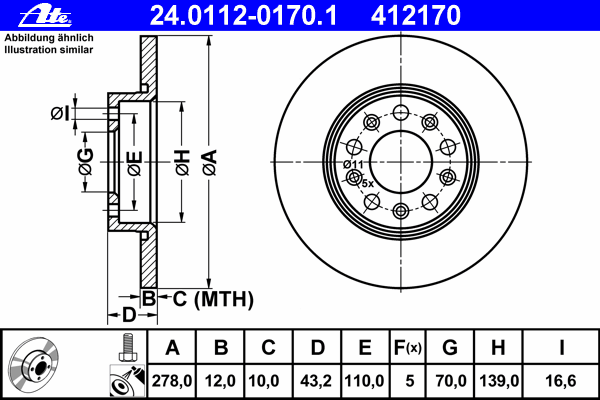24011201701 Диск тормозной задн, ALFA ROMEO: 159 1.8 MPI/1.9 JTDM 16V/1.9 JTDM 8V/1.9 JTS/2.0 JTDM/2.2 JTS 05-11, 159 Sportwagon
