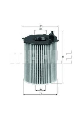 OX17116D Фильтр масляный FIAT PUNTO/PANDA 0.9 10-