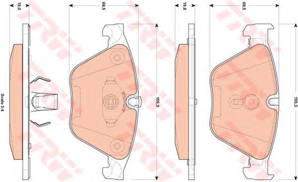 GDB1854 Колодки тормозные BMW 5 F10/F11 3.0 10-/7 F01-04 3.0 08- передние