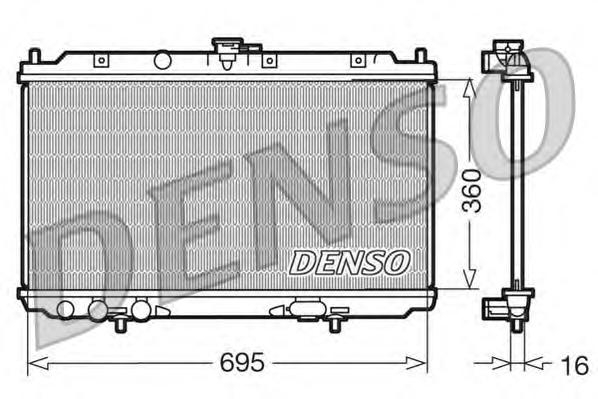 DRM46012 Радиатор системы охлаждения NISSAN: ALMERA II (N16) 1.5/1.8 00 - , ALMERA II HATCHBACK (N16) 1.5/1.8 00 -