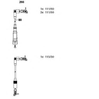 266 Комплект проводов зажигания