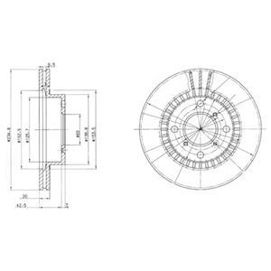 BG3160 Диск тормозной Fr SUZ Baleno 1,3/1,6 95-9