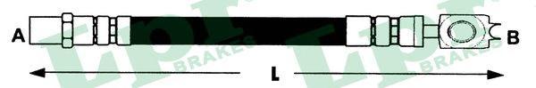 6T46762 Шланг тормной передний GOLF VR6