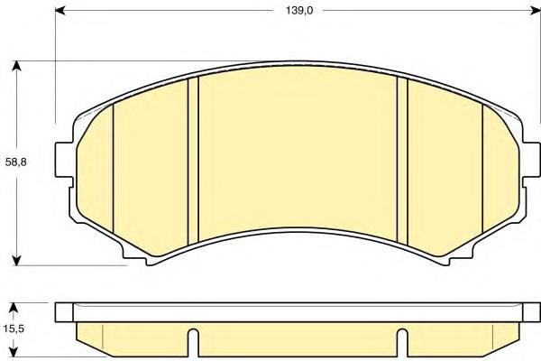 6132469 Колодки тормозные MITSUBISHI PAJERO III LONG WAGON 0006 3.5/2.5TD передние