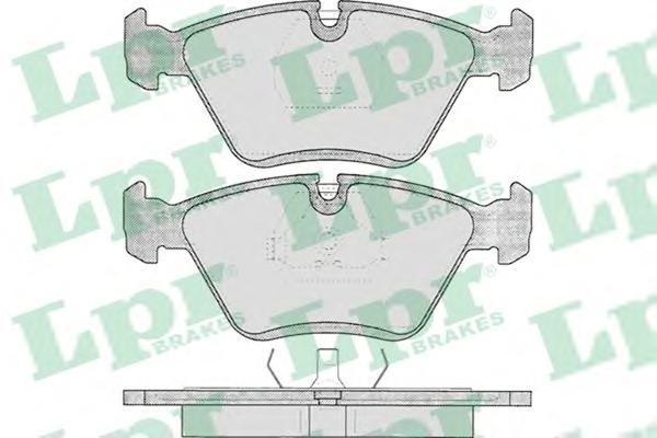 05p193 Комплект тормозных колодок, дисковый тормоз
