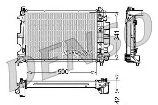 drm25012 Радиатор, охлаждение двигателя