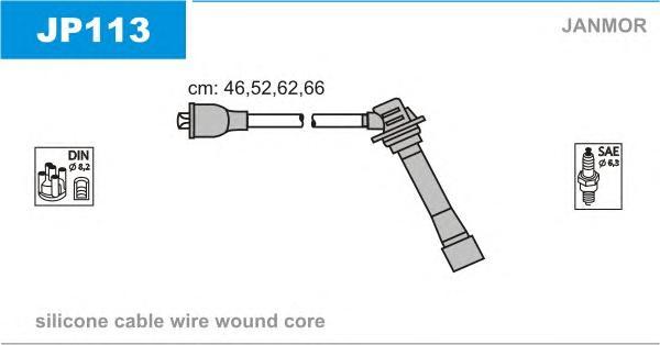 JP113 Комплект проводов зажигания MAZDA: 626 IV 92-97, 626 IV HATCHBACK 91-97, MX-6 92-