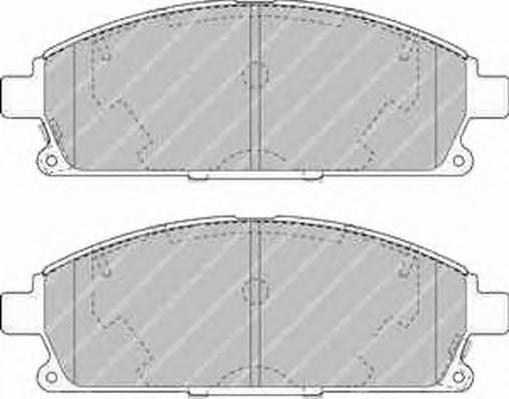 FDB1263 Колодки тормозные NISSAN PATHFINDER 97-04/X-TRAIL 01-07 передние с инд.износа