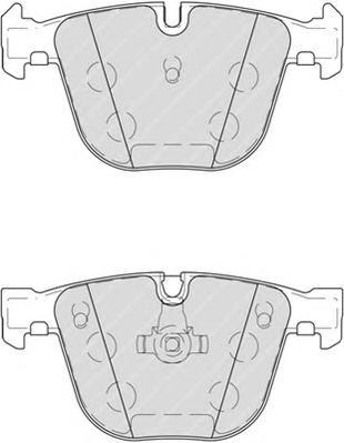 FDB4259 Колодки тормозные BMW X5 E70/F15/X6 E71/F16 задние