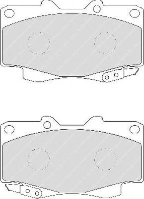 FDB1852 Колодки тормозные TOYOTA HILUX III 05- передние