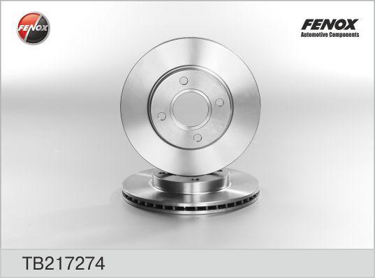 TB217274 Диск тормозной FORD FOCUS 9805/FUSION 1.4/1.6 01 передний вентилируемый