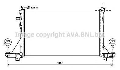 RT2560 Радиатор системы охлаждения NISSAN: NV400 C БОРТОВОЙ ПЛАТФОРМОЙ/ХОДОВАЯ ЧАСТЬ 2.3 DCI 11-, NV400 АВТОБУС 2.3 DCI 11-, NV4