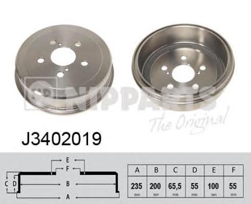 J3402019 Барабан тормозной TOYOTA CARINA 93-97