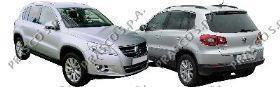 VW8071021 Бампер передний грунтованный (а/м с омывателями фар и парктроником)  / VW Tiguan 08~
