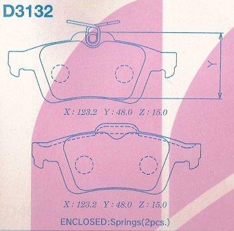 D3132 Колодки тормозные FORD FOCUS II/III/MAZDA 3/OPEL VECTRA C/VOLVO S40 задние
