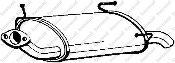 145131 Глушитель NISSAN PRIMERA 1.6 96-02