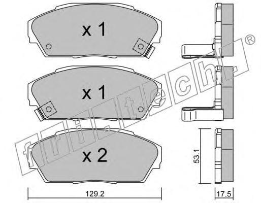 1740 Комплект тормозных колодок, дисковый тормоз