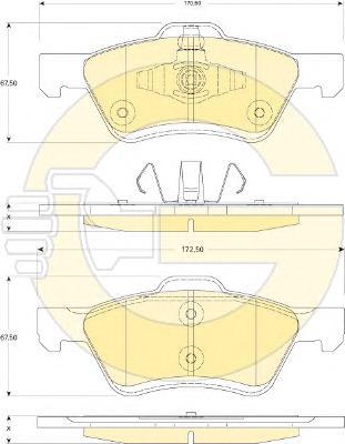 6117522 Колодки тормозные FORD MAVERICK/MAZDA TRIBUTE 2.4-3.0 04- передние