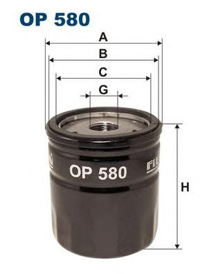 OP580 Фильтр масляный LAND ROVER FREELANDER 1.8-2.5/ROVER 100/200/400/75/800 1.1-2.0