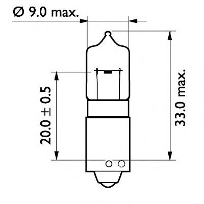 24356CP Лампа H21W 24V 21W PHILIPS