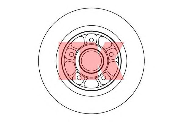 203931 Диск тормозной RENAULT LAGUNA II 1.6-3.0 01- задний без подшипника