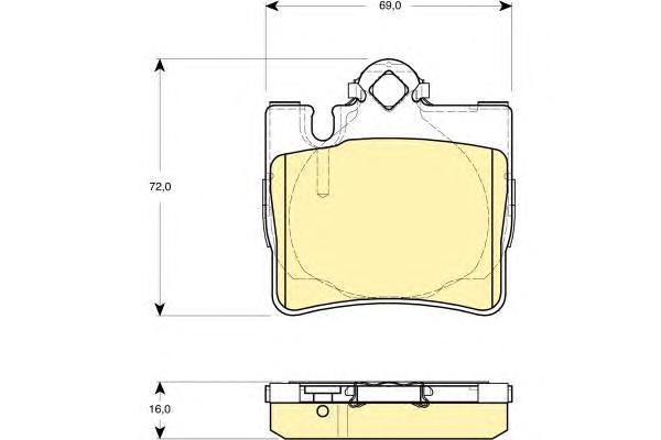6114552 Колодки тормозные MERCEDES W220 S320-S600 9805/C215 AMG задние