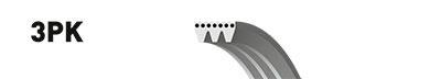 3PK890 Ремень поликлиновой Honda / Lexus / Renault