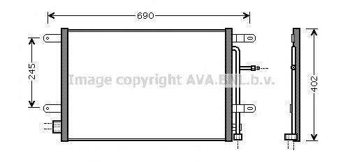 AI5238 Конденсер VAG A4 1.6/1.8/2.0/3.2/1.9-3.0 TDi 04-