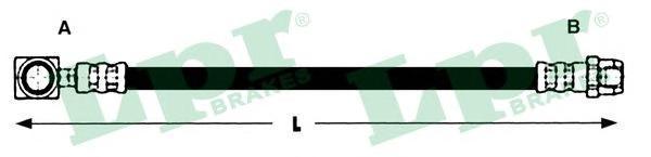 6T47830 Шланг тормозной MINI COOPER/ONE 01- задний
