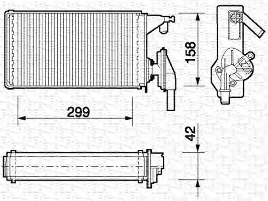 350218063000 Радиатор печки IVECO DAILY II