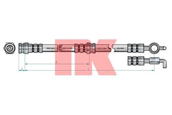 853224 Шланг тормозной MAZDA 323 89-/626 91-97 передний