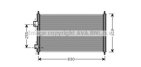 HD5165 Радиатор кондиционера HONDA: CIVIC VI 1.4 (ES4)/1.6 01 - 05 , CIVIC VI Hatchback (EU_, EP_) 1.4 iS (EP1)/1.6 i 00 - 05 ,
