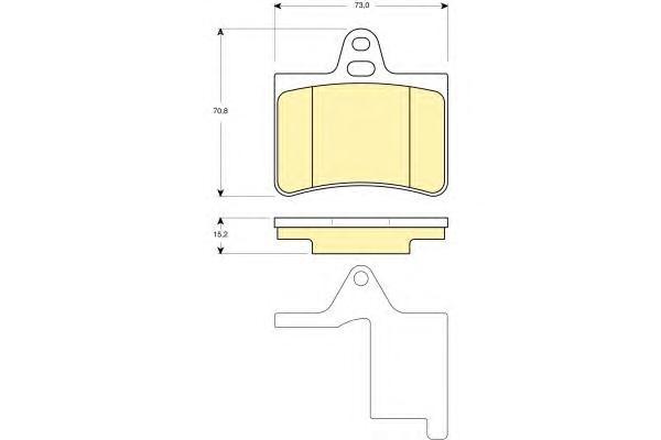 6114509 Колодки тормозные CITROEN C5 01- задние