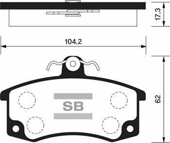 SP1181 Колодки тормозные ВАЗ 2110/2111/2112 передние с датчиком