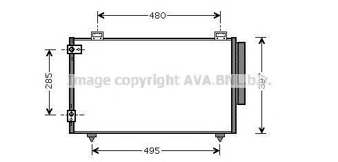 TO5286 Радиатор кондиционера TOYOTA: COROLLA (_E11_) 1.4 16V (ZZE111_)/1.6 16V (ZZE112_)/1.9 D (WZE110_)/2.0 D-4D 97 - 02 , CORO