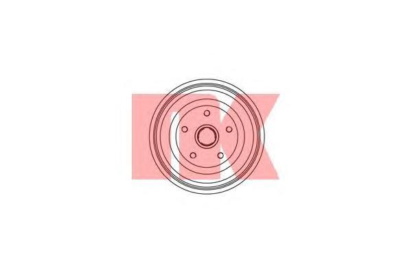 254722 Барабан тормозной / AUDI-100 (230x51)  90~94