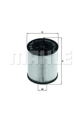 KX861D Фильтр топливный AUDI A2 1.2-1.4TD 02-05