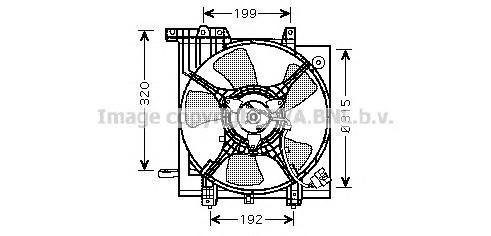 SU7502 Вентилятор радиатора SUBARU IMPREZA 00-