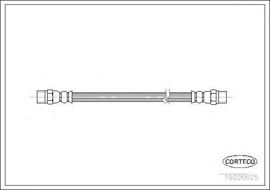 19026625 Тормозной шланг