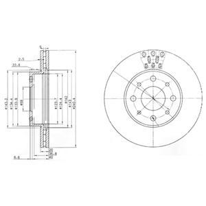 BG3425 Тормозной диск 2шт в упаковке