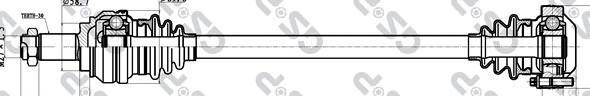 205038 Привод в сборе BMW 1 E81/3 E90 2.0-3.0 05- зад.прав.