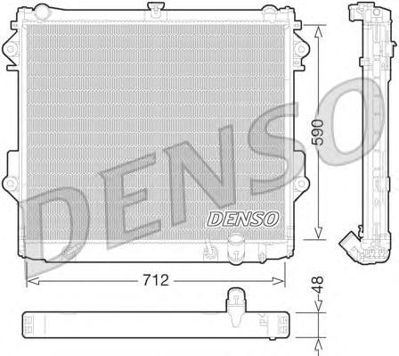 drm50074 Радиатор системы охлаждения TOYOTA: LAND CRUISER (J20) 4.7 V8 (UZJ200) 08-