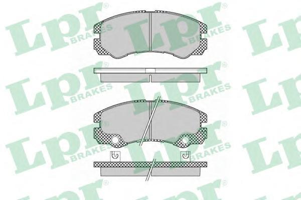 05P1353 Колодки тормозные OPEL FRONTERA B 2.2/2.2D/3.2 98- передние