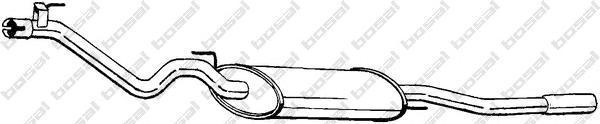 285685 Глушитель VW VENTO 1.4i/1.6/1.9D 91-98