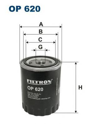 OP620 Фильтр масляный PEUGEOT 605/J5/BOXER/CITROEN JUMPER/XM